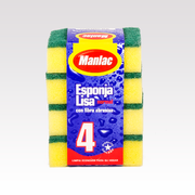 ESPONJA lisa normal (4u) marca Manlac