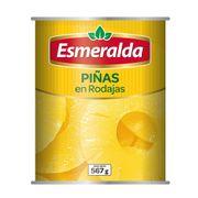 PIÑA EN RODAJAS (567g) marca Esmeralda