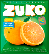JUGO NARANJA SOBRE (25g) marca Zuko