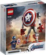 LEGO™ Marvel Avengers 76168 - Capitán América clásico en armadura robótica y escudo, juguete de construcción coleccionable (121 piezas), 2021