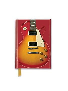 portada Gibson les Paul Guitar, Sunburst red (Foiled Pocket Journal) (Flame Tree Pocket Books) (libro en inglés)