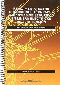 portada Reglamento en lineas electricas de alta tensión
