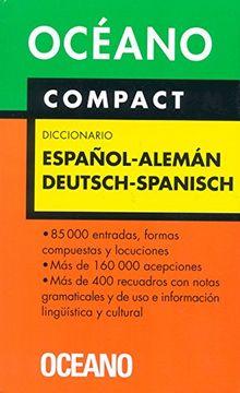 portada Diccionario Oceano Compact Espanol-Aleman
