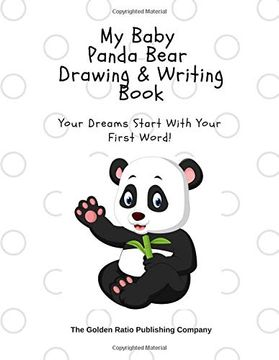 portada My Baby Panda Bear Drawing & Writing Book: Your Dreams Start With the First Word! (my Little Baby Animals) (libro en inglés)