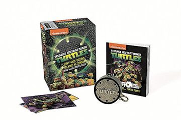portada Teenage Mutant Ninja Turtles: Light-And-Sound Talking Keychain and Illustrated Book (libro en Inglés)