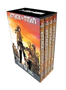 portada Attack on Titan Season 1 Part 1 Manga box set (libro en Inglés)