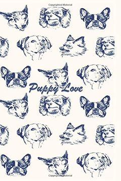 portada Puppy Love: 124 Page Softcover, has Lined and (libro en inglés)