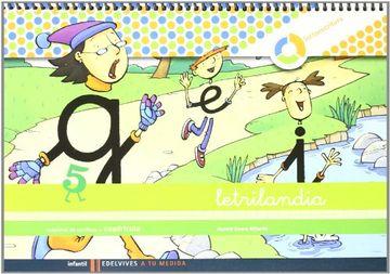 portada Letrilandia Lectoescritua Cuaderno 5 de Escritura (Cuadricula) (a tu Medida (Entorno Lógica Matemática))