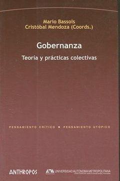 portada GOBERNANZA. TEORIA Y PRACTICAS COLECTIVAS.