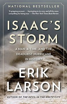 portada Isaac's Storm: A Man, a Time, and the Deadliest Hurricane in History (libro en Inglés)