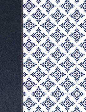 portada Nvi Biblia de Apuntes Blanco y Azul Símil Piel