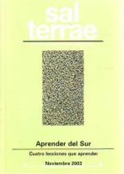 portada Sal Terrae, Revista De Teología Pastoral. Noviembre 2003. Tomo 91 / 10 (N. 1072): Aprender Del Sur. Cuatro Lecciones Que Aprender