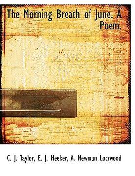 portada the morning breath of june. a poem.