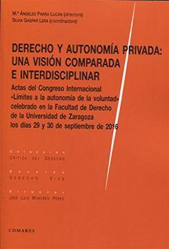portada Derecho y Autonomía Privada: Una Visión Comparada e Interdisciplinar