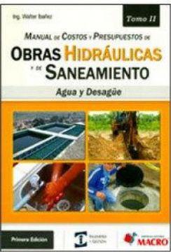 portada Manual de Costos y Presupuestos. Obras Hidraulicas y de Saneamiento to