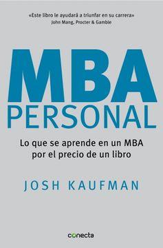 portada Mba Personal: Lo que se Aprende en un mba por el Precio de un Libro