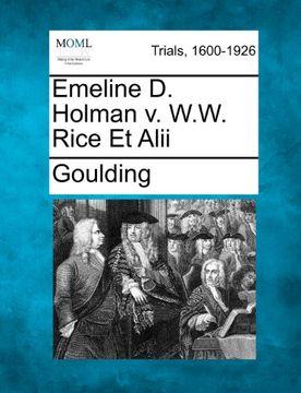 portada emeline d. holman v. w.w. rice et alii