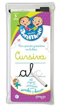 portada Mini Abremente Cursiva 40 Paginas con Actividades Para Escribir y Borrar