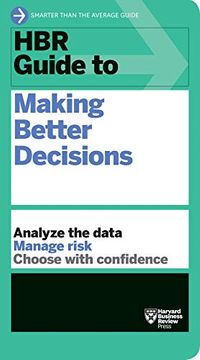 portada Hbr Guide to Making Better Decisions (libro en Inglés)