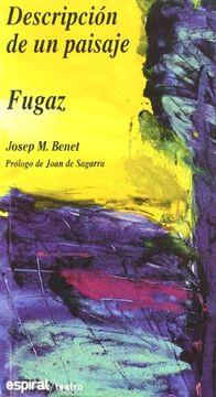 portada Descripción de un Paisaje Fugaz