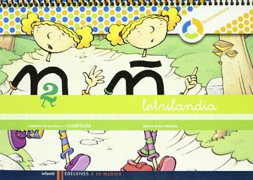 portada Letrilandia Cuaderno 2 de Escritura (Cuadricula) (a tu Medida (Entorno Lógica Matemática))