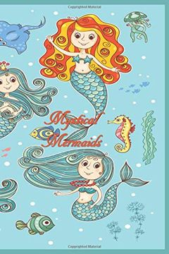 portada Mystical Mermaids: 124 Page Softcover, has Both Lined and (libro en inglés)
