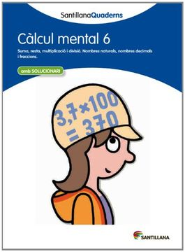 portada Calcul Mental 6 Santillana Quaderns (libro en Catalán)