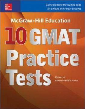 portada Mcgraw-Hill Education 10 Gmat Practice Tests (libro en inglés)