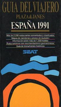 portada guía del viajero plaza & janés. españa 1991.