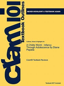 portada studyguide for a childs world: infancy through adolescence by diane papalia, isbn 9780073532042
