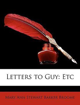 portada letters to guy: etc