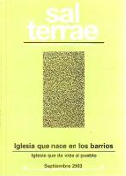 portada Sal Terrae, Revista De Teología Pastoral. Septiembre 2003. Tomo 91 / 8 (N. 1070): Iglesia Que Nace En Los Barrios