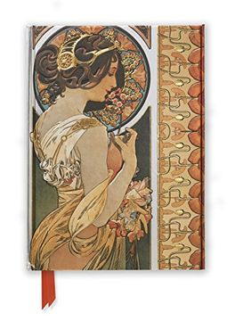 portada Mucha: Cowslip and Documents Decoratifs (Foiled Journal) (Flame Tree Notebooks)