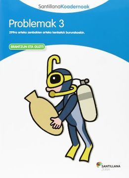 portada Problemak 3 Santillana Koadernoak - 9788498943160 (libro en Euskera)