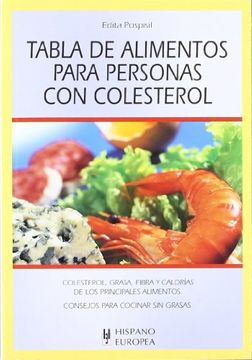 portada Tabla de Alimentos Para Personas con Colesterol