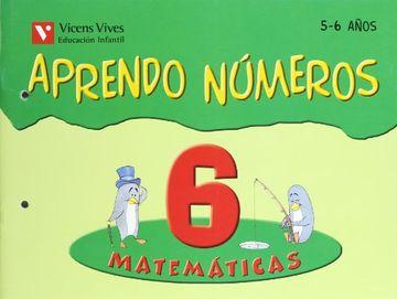 portada Aprendo Numeros. Cuaderno 6 (ed Infantil 5 Años) Matematicas