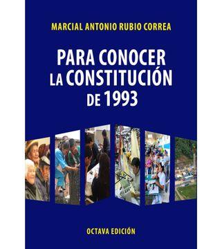 portada Para conocer la Constitución de 1993