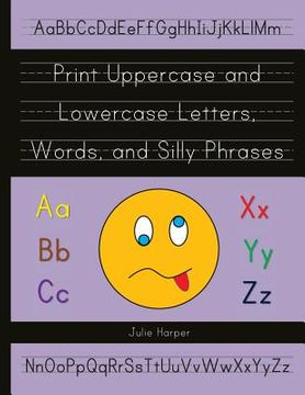 portada print uppercase and lowercase letters, words, and silly phrases