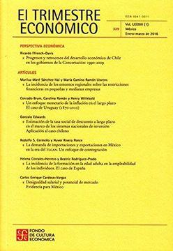 portada El Trimestre Economico No. 329 Enero Marzo (Spanish Edition)