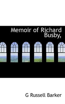 portada memoir of richard busby,