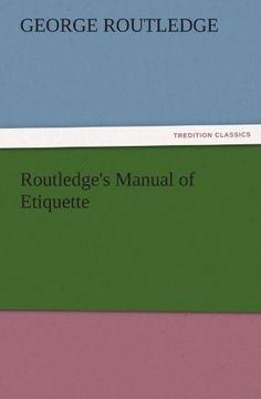 portada routledge's manual of etiquette