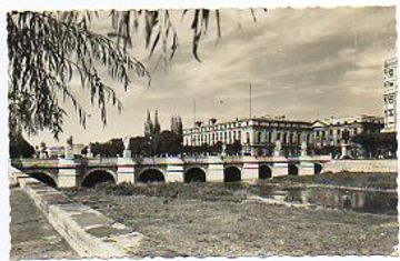 portada tarjeta postal: 213. burgos. vista general del puente de san pablo.