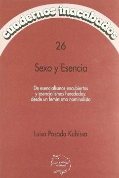 portada Cuadernos inacabados,26 sexo y esencia