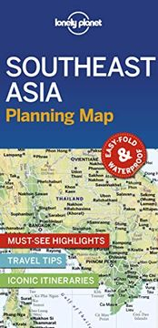 portada Lonely Planet Southeast Asia Planning map (libro en Inglés)