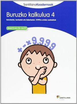 portada Buruzko Kalkulua 4 Santillana Koadernoak (libro en Euskera)