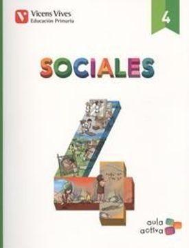 portada SOCIALES 4+ CASTILLA Y LEON SEPARATA (AULA ACTIVA): Sociales 4. L. Alumno Y Separata Castilla Y Leon. Aula Activa: 000002