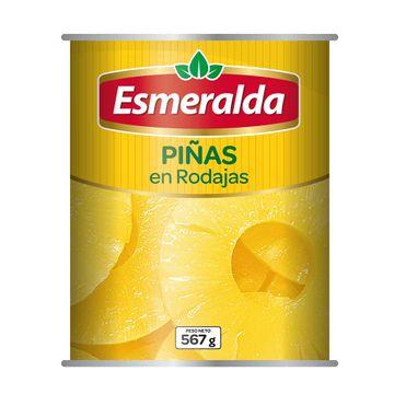 portada PIÑA EN RODAJAS (567g) marca Esmeralda