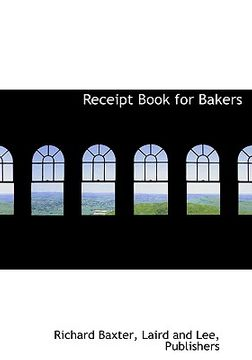portada receipt book for bakers