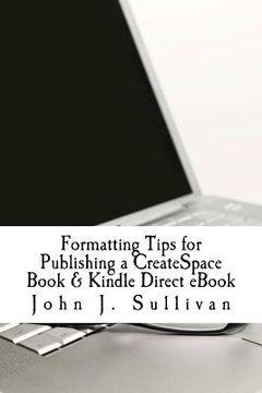 portada formatting tips for publishing a createspace book & kindle direct ebook