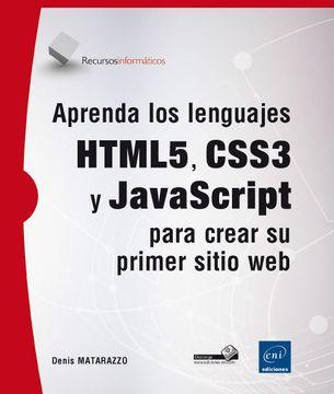 portada Aprenda los Lenguajes Html5, Css3 y Javascript Para Crear su Primer Sitio web